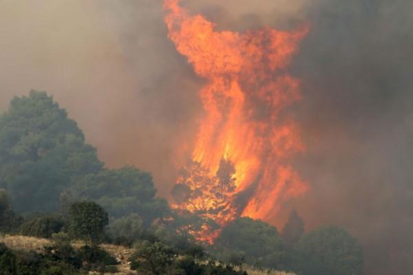 Φωτιά στη Μάνη