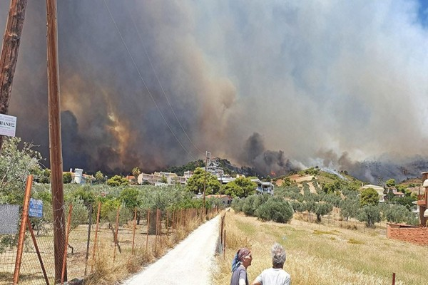 Φωτιά στην Κορινθία: Πολλές οι εστίες - Κάηκαν σπίτια και παλεύουν με τις συνεχείς αναζωπυρώσεις οι πυροσβέστες