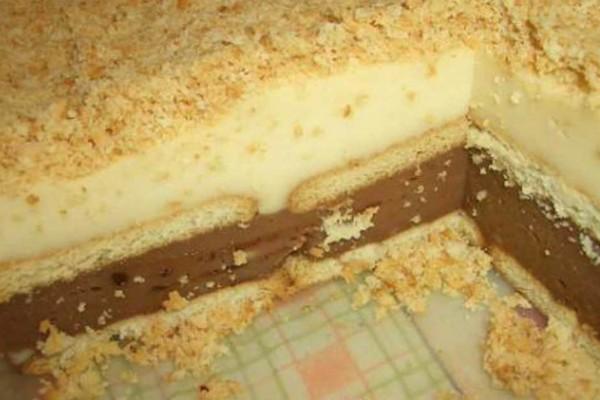 Ανάλαφρο γλυκό ψυγείου με μπισκότα - Εύκολη και γρήγορη συνταγή