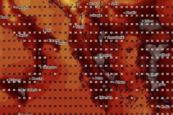 Έφτασε ο καύσωνας: Νύχτα με 28 βαθμούς στην Αθήνα - Αναλυτικά χάρτες με θερμοκρασίες