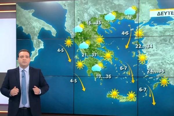 «Τους 40 βαθμούς θα «αγγίξει» η θερμοκρασία» - «Καμπανάκι» από τον Κλέαρχο Μαρουσάκη για τον κίνδυνο πυρκαγιάς(Video)
