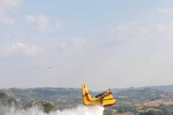 Φωτιά στην Ηλεία: Πυρκαγιά στα Ζαχαρέικα