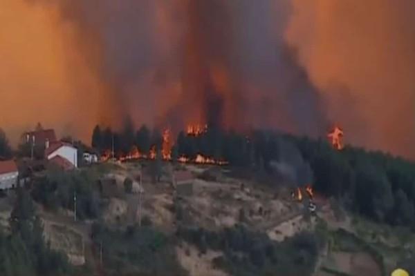 Μεγάλη πυρκαγιά στην Πορτογαλία - Νεκρός 21χρονος πυροσβέστης