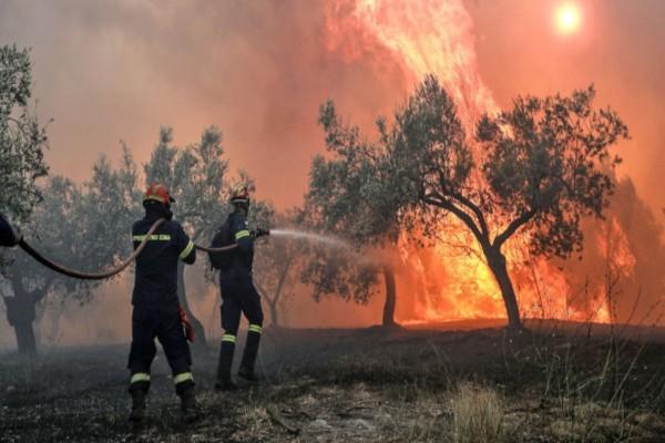 Φωτιά στην Κορινθία: Σε κατάσταση έκτακτης ανάγκης 5 κοινότητες