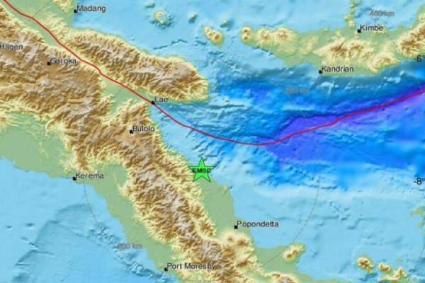 Ισχυρός σεισμός στην Παπούα Νέα Γουινέα - Προειδοποίηση για τσουνάμι (photo)