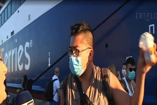 Τον έσωσε... η δημοσιογράφος: Ταξίδευε στη Μύκονο με πλοίο που έφευγε... για Σαντορίνη
