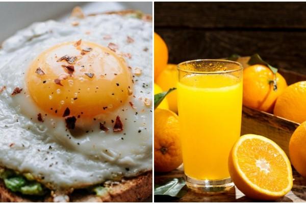 Ο απίστευτος λόγος που πρέπει να τρώτε αυγά με χυμό πορτοκάλι το πρωί