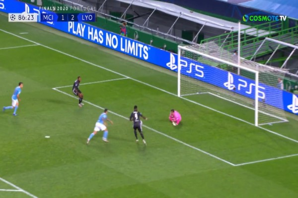 Champions League: Η Λιόν πέταξε έξω τη Μάντσεστερ Σίτι με 3-1 (Video)