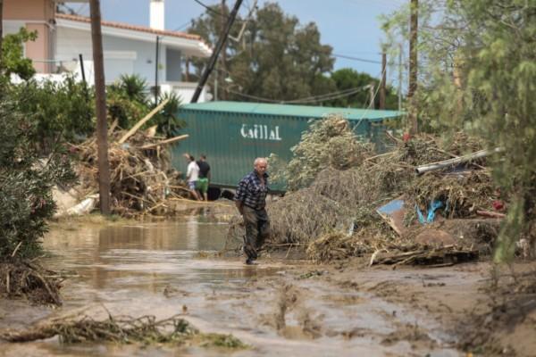 Καταιγίδα «Θάλεια»: Σε κατάσταση έκτακτης ανάγκης Δήμοι σε Εύβοια και Θεσσαλονίκη