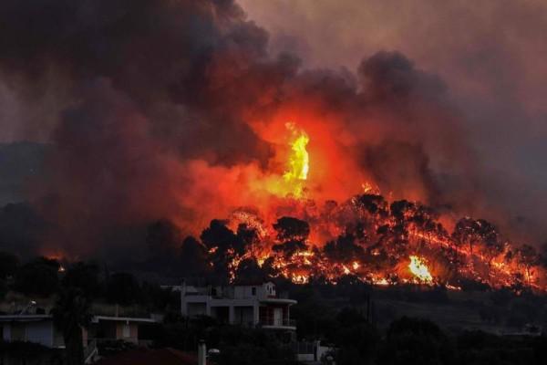 Φωτιά στη Βόνιτσα