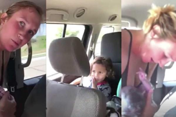35χρονος βιντεοσκοπεί τη γυναίκα του να γεννάει στο αυτοκίνητο - Τα παιδιά κοιτούσαν έντρομα