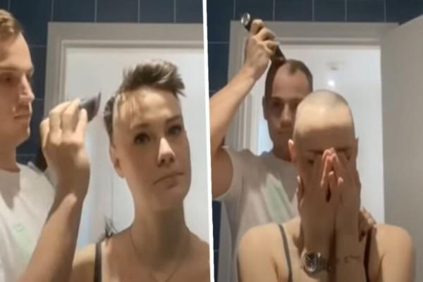 Αυτή η κοπέλα αποφάσισε να ξυρίσει τα μαλλιά της - Αυτό που έκανε το αγόρι της... θα το θυμάται για πάντα