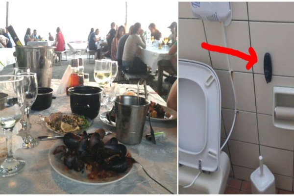 Πήγαν σε τουαλέτα ταβέρνας και βρήκαν κρυφή κάμερα - Αυτά που έδειξε στη συνέχεια...