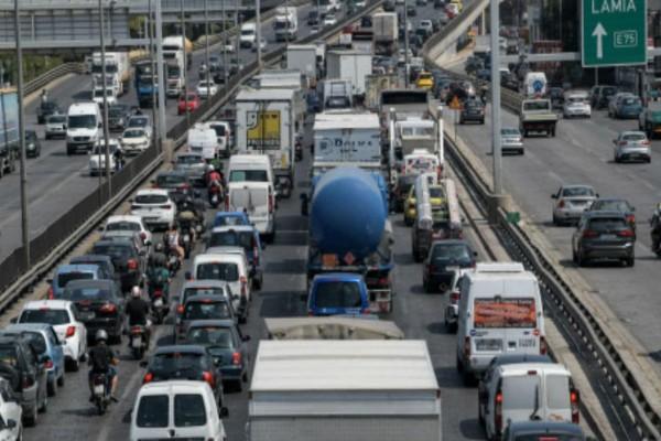 Καραμπόλα στην Εθνική Οδό - Ταλαιπωρία για τους οδηγούς