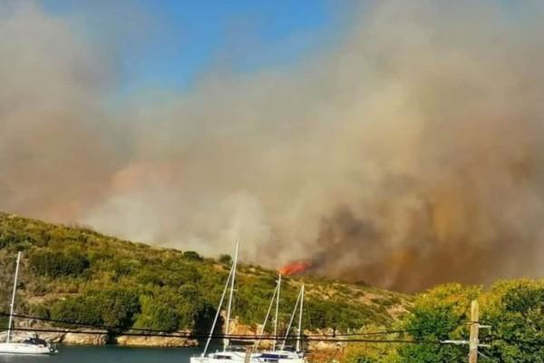 Φωτιά στην Κέρκυρα (Video)