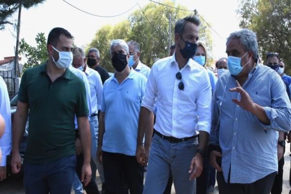 Εύβοια: Υπόσχεση για αποζημιώσεις από Κυριάκο Μητσοτάκη - Τα πρώτα μέτρα στήριξης