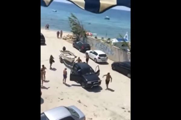 Τρομερές εικόνες στην Χαλκιδική: Άγριος καβγάς... για μια βάρκα