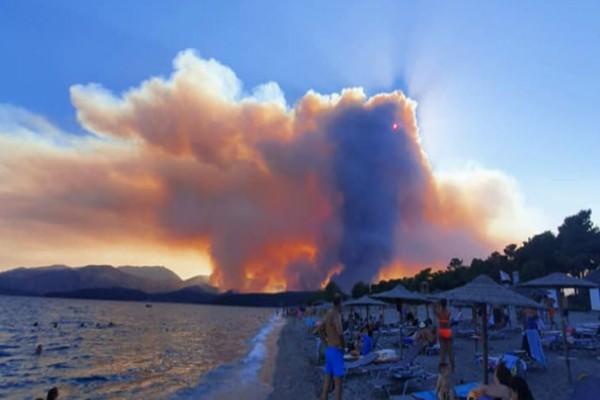 Φωτιά στη Μάνη: Συνεχίζεται η μάχη - Έντονη ανησυχία στην Πυροσβεστική