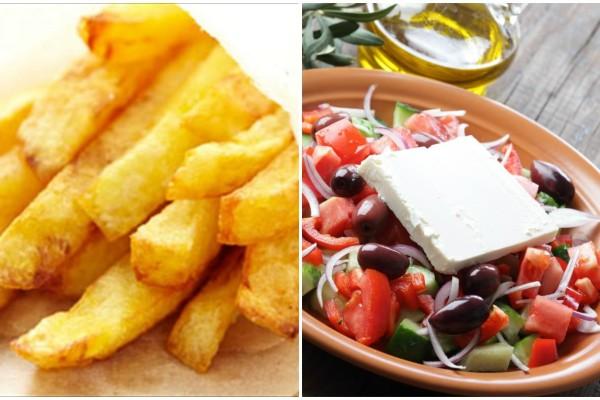 Τηγανητές πατάτες εναντίον σαλάτας - Κι όμως οι πατάτες είναι πιο...