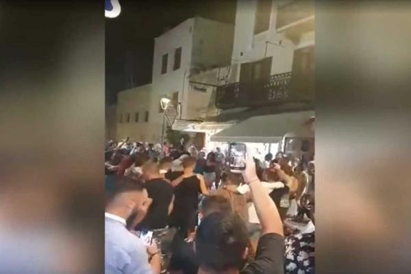 Κανένας... κορωνοϊός στα Χανιά: Γλέντι στο κέντρο της πόλης μέχρι το πρωί