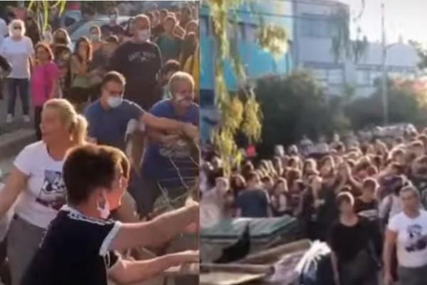 Χαμός στον Άλιμο: Γονείς προσπάθησαν να «σπάσουν» την κατάληψη σε σχολείο (Video)
