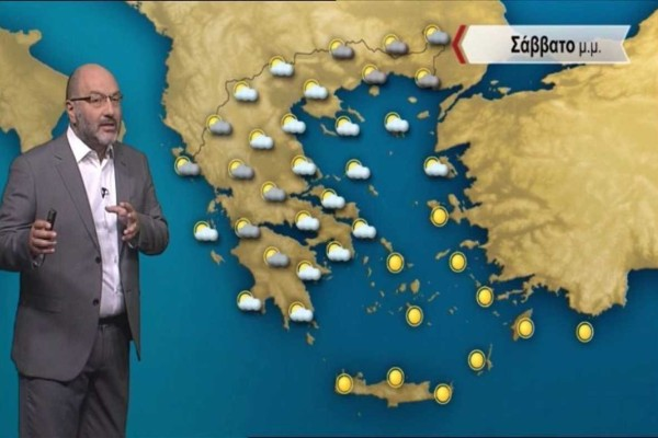 """«Καμπανάκι» από τον Σάκη Αρναούτογλου: «Η θύελλα είναι και πάλι εδώ με ένα """"κοκτέιλ"""" ισχυρών καταιγίδων και ζέστης»"""