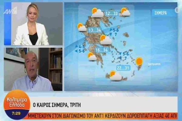 «Οι πρώτες φθινοπωρινές βροχές έρχονται την...» - Πρόγνωση του καιρού από τον Τάσο Αρνιακό
