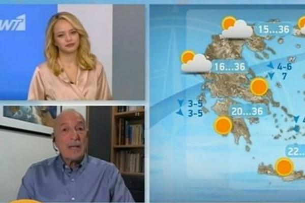 «Ηλιοφάνεια αλλά με τοπικές μπόρες...» - Η πρόγνωση του Τάσου Αρνιακού (Video)
