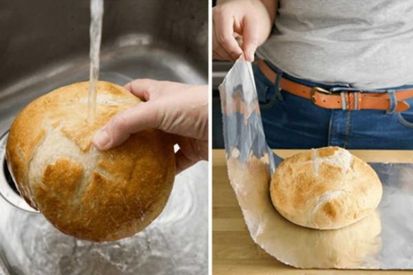 Βγάζει την ψίχα από το μπαγιάτικο ψωμί και τη βάζει στο νερό - Το αποτέλεσμα είναι μοναδικό