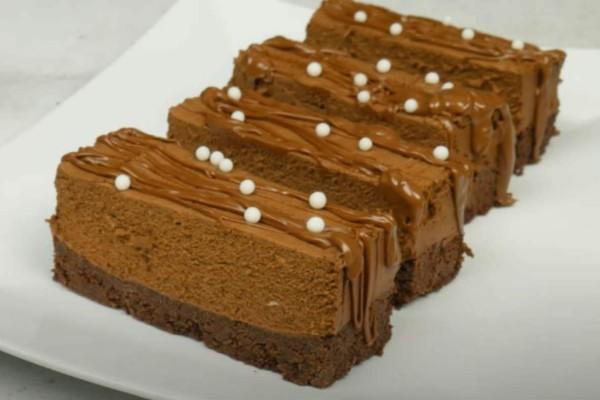 Γλυκό ψυγείου με μπισκότα και άλλα 4 υλικά - Εύκολη και γρήγορη συνταγή