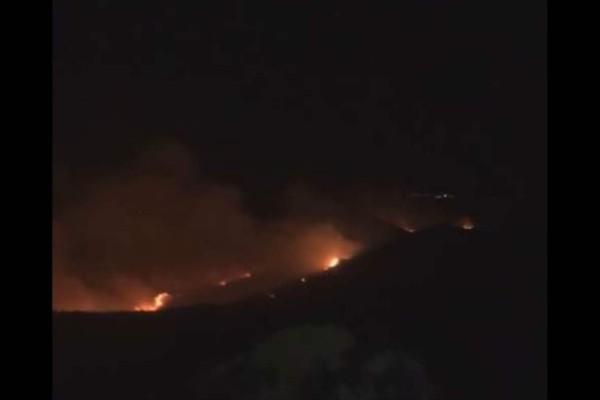 Κεφαλονιά: Ολονύχτια μάχη με τις φλόγες - Σε ύφεση η φωτιά