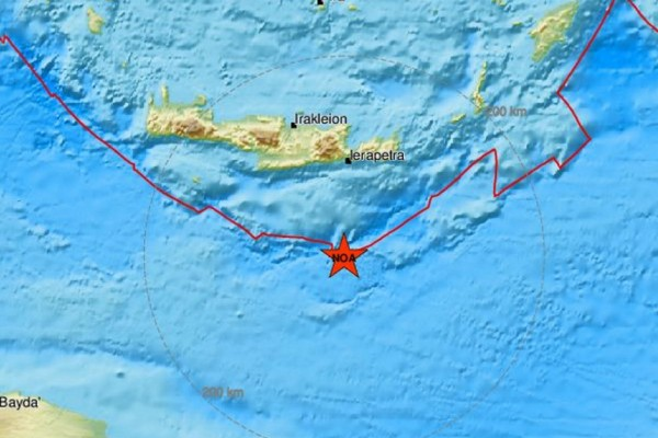Σεισμός 3,3 Ρίχτερ νότια της Κρήτης