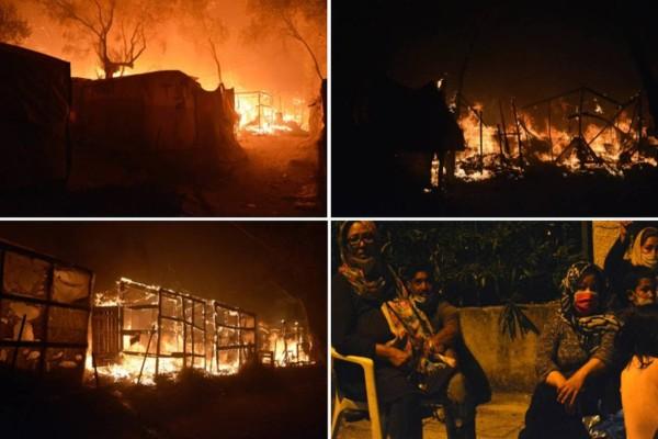 Κόλαση του Δάντη στη Μόρια: Συγκλονίζουν οι φωτογραφίες - Τεράστια καταστροφή