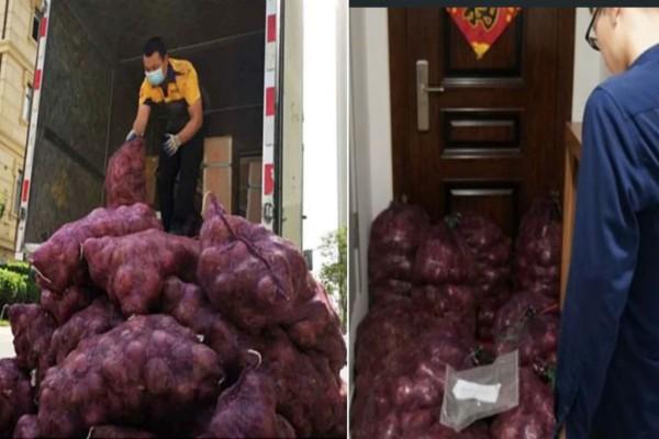 Βρήκε έξω από την πόρτα του ένα τόνο κρεμμύδια - 3 ημέρες πριν η σύντροφός του...
