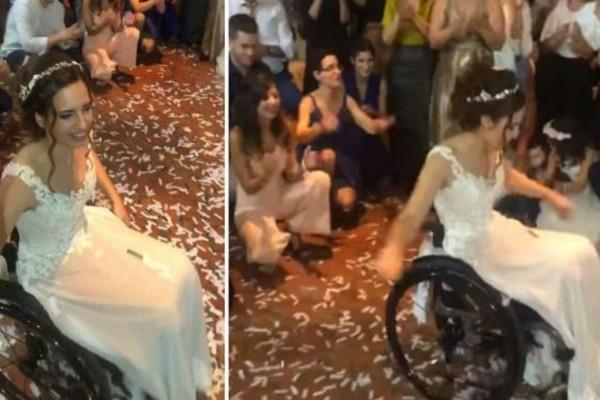 Ελληνίδα νύφη σε αναπηρικό αμαξίδιο χόρεψε το ωραιότερο ζεϊμπέκικο που έχετε δει - «Λύγισε» το διαδίκτυο (Video)