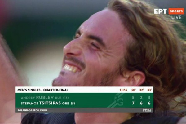 Στέφανος Τσιτσιπάς: Επική πρόκριση στους «4» του Roland Garros