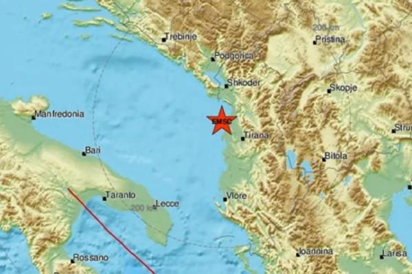 Δυνατός σεισμός στην Αλβανία