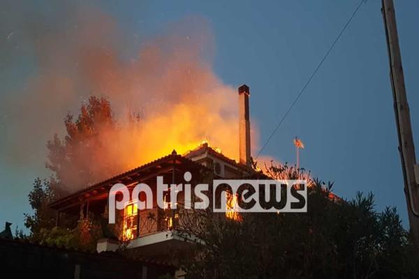 Φωτιά σε σπίτι στον Πύργο