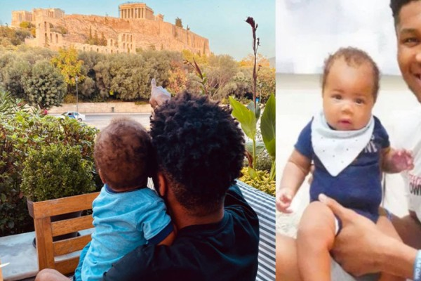 Ο Γιάννης Αντετοκούνμπο δείχνει στον γιο του την Ακρόπολη και διαφημίζει την Ελλάδα σε όλο τον κόσμο