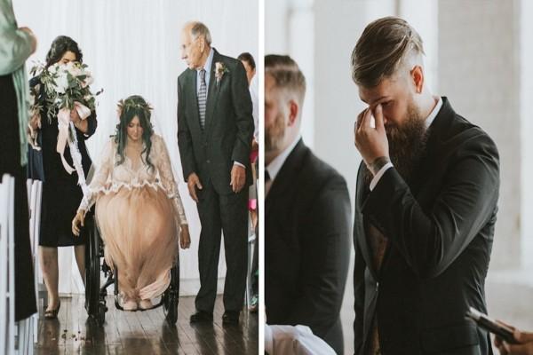 Παράλυτη νύφη φτάνει στην εκκλησία και εντυπωσιάζει τους πάντες - Σοκαρισμένος ο γαμπρός βλέπει να...