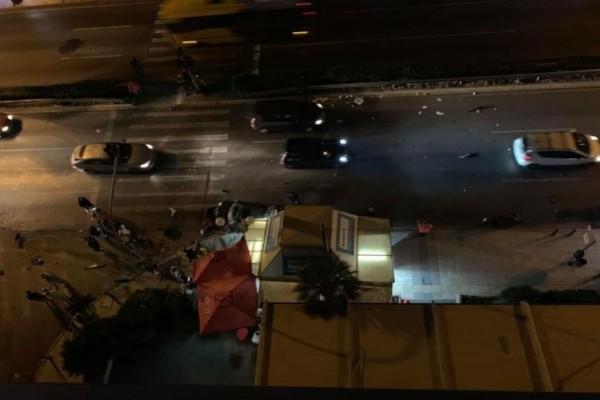 Ατύχημα στην Ποσειδώνος: Αυτοκίνητο