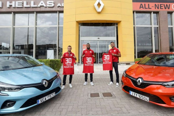 Ο Ολυμπιακός γιορτάζει με τη Renault 30 Χρόνια Renault CLIO