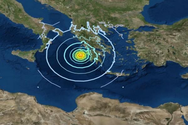 Σεισμός 3,9 Ρίχτερ νοτιοδυτικά της Ζακύνθου