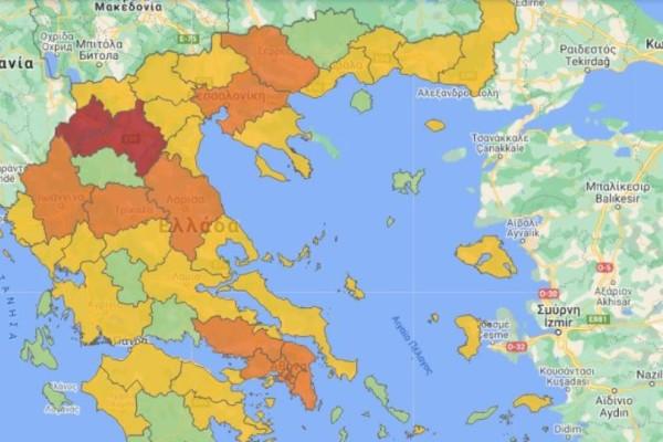 Κορωνοϊός - Χάρτης Υγειονομικής Ασφάλειας: Οι περιοχές που αλλάζουν χρώμα και επίπεδο συναγερμού