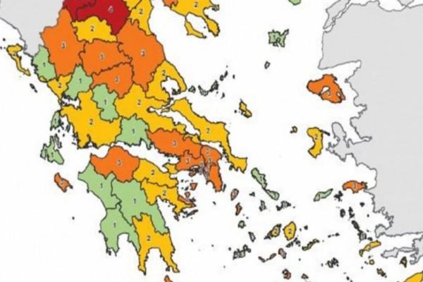 Άλλαξε ο υγειονομικός χάρτης: Τι θα ισχύει με τα νέα μέτρα - Ποιες περιοχές ανέβηκαν σε επίπεδο κινδύνου