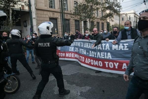 Πολυτεχνείο: Ένταση στο κέντρο της Αθήνας