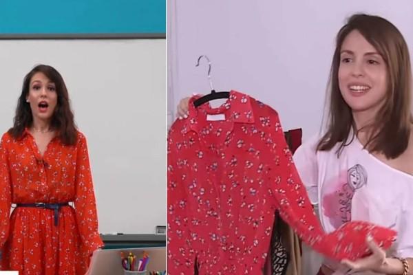 32χρονη δασκάλα της τηλεκπαίδευσης της ΕΡΤ έτρεχε για ρούχα στο «Shopping Star» με την Καγιά (Video)