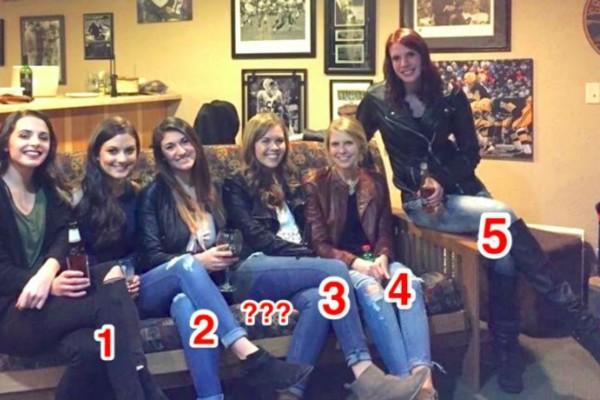 6 κορίτσια με 5 ζευγάρια πόδια! Η φωτογραφία-οφθαλμαπάτη που έχει τρελάνει το ίντερνετ!