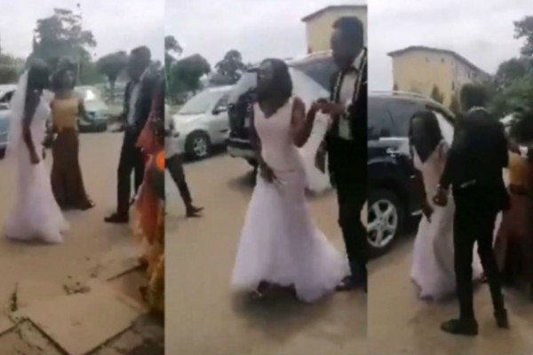 Χαμός σε γάμο - Νύφη αρνήθηκε να μπει στην εκκλησία: «Μη με αγγίζεις» (Video)