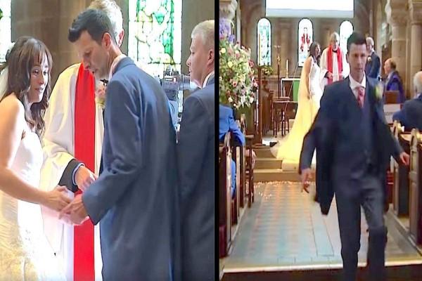Το ζευγάρι είναι έτοιμο να παντρευτεί. Τότε, ο γαμπρός άρχισε... (Video)
